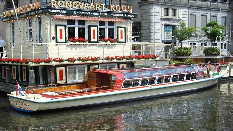 Positive Travel Amsterdam Guide beautiful historic Rederij Kooij boat