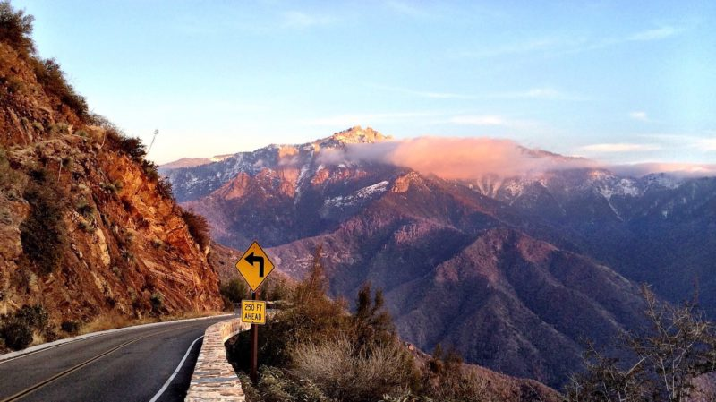 Positive Travel Guide California Highway in mountains
