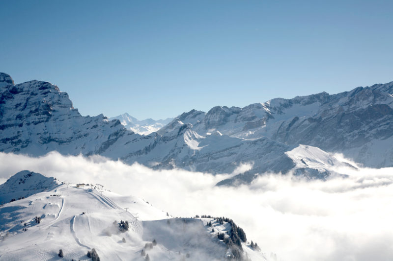 Positive Travel Best Sustainable Ski Resorts in Switzerland Villars view of ski slopes