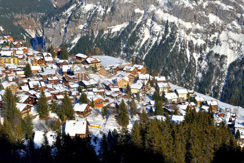 Positive Travel Best Sustainable Ski Resorts in Switzerland Murren ski village of Interlaken