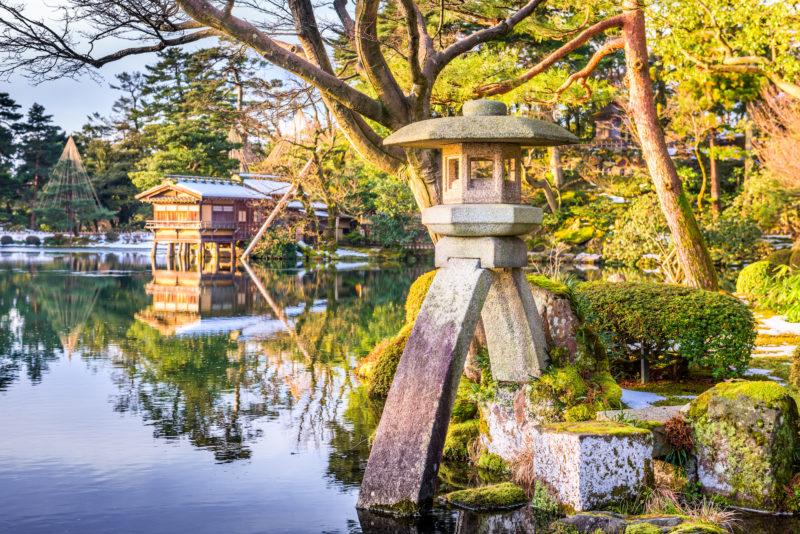 Japanese garden, Kanazawa, Japan